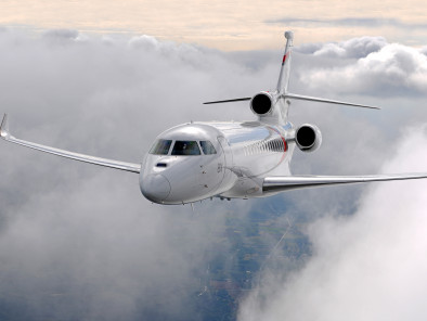 Dassault Falcon 8X, Private Jet, used by Private Jet Charter service from AB Corporate Aviation, showing dassault-falcon-8x-flying.