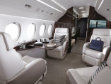 Dassault Falcon 8X, Private Jet, used by Private Jet Charter service from AB Corporate Aviation, showing dassault-falcon-8x-interior.
