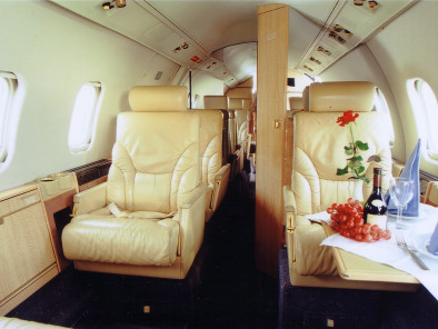 Image bombardier-learjet-55-inside of Bombardier LearJet 55 available for rent of flights with a Private Aircraft