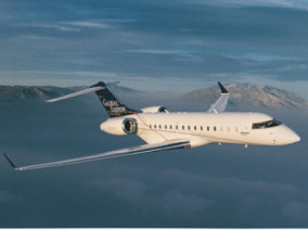 Bombardier Global Express, Private Jet, used by Private Jet Charter service from AB Corporate Aviation, showing global-express-flying-in-the-sky.
