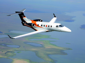 Embraer Phenom 300, Private Jet, used by Private Jet Charter service from AB Corporate Aviation, showing embraer-phenom-300-first-flying.