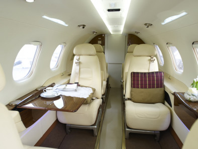 Embraer Phenom 300, Private Jet, used by Private Jet Charter service from AB Corporate Aviation, showing embraer-phenom-300-inside.