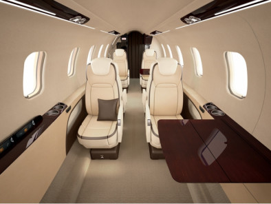 Bombardier LearJet 75, Private Aircraft, used by Private Jet Charter service from AB Corporate Aviation, showing bombardier-learjet-75-inside.