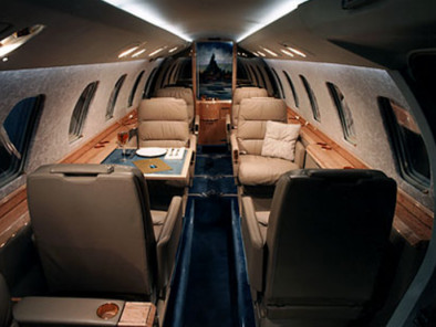 Cessna Citation III, Private Aircraft, used by Private Jet Charter service from AB Corporate Aviation, showing cessna-citation-3-interior.