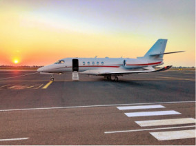 Cessna Citation Latitude, Private Jet, used by Private Jet Charter service from AB Corporate Aviation, showing cessna-citation-latitude-outside.