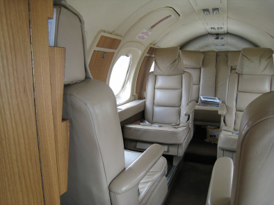 Dassault Falcon 10, Air Taxi, used by Private Jet Charter service from AB Corporate Aviation, showing dassault-falcon-10-seats.