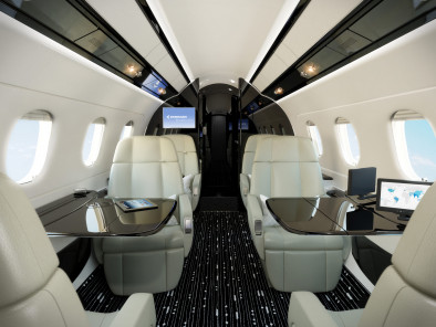 Embraer Legacy 450, Business Aircraft, used by Private Jet Charter service from AB Corporate Aviation, showing embraer-legacy-450-interior.