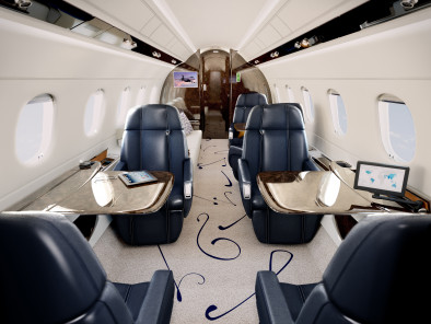 Embraer Legacy 500, Private Aircraft, used by Private Jet Charter service from AB Corporate Aviation, showing embraer-legacy-500-interior.