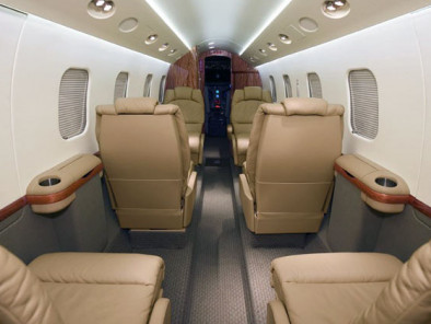 Gulfstream 100, Air Taxi, used by Private Jet Charter service from AB Corporate Aviation, showing gulfstream-100-interior.