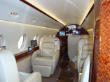 Gulfstream 200, Business Aircraft, used by Private Jet Charter service from AB Corporate Aviation, showing gulfstream-g200-seats.