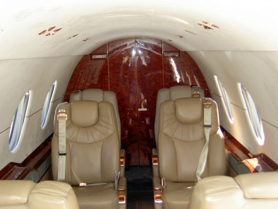 Hawker 400 XP, Air Taxi, used by Private Jet Charter service from AB Corporate Aviation, showing hawker-400-xp-seats.