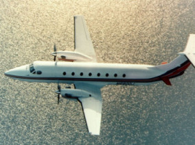 Image beechcraft-1900-airliner-flying of Beechcraft 1900 Airliner available for rent of flights with a Business Aircraft