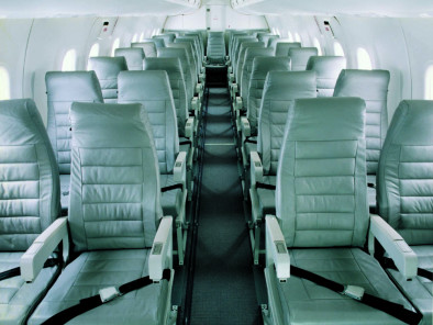 Image bombardier-dash-8-100-inside-seats of Bombardier Dash 8-100 available for rent of flights with a Business Aircraft