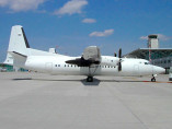 Fokker 50, Airliner, used by Private Jet Charter service from AB Corporate Aviation, showing fokker-50-outside.