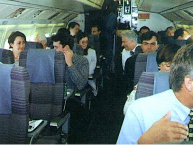 Fokker 50, Airliner, used by Private Jet Charter service from AB Corporate Aviation, showing fokker-50-people.