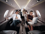 Image citation-excel-interior-people of Cessna Citation Excel available for rent of flights with a Private Jet