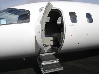 Image piaggio-p180-avanti-door-open of Piaggio P180 Avanti available for rent of flights with a Private Aircraft