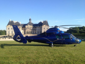 Image of the VIP excursion Paris sightseeing tour: castle of Vaux le Vicomte showing castle-of-vaux-le-vicomte-garden, flying with a Private Helicopter thanks to AB Corporate Aviation
