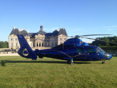 VIP excursion Paris sightseeing tour: castle of Vaux le Vicomte by a Private Helicopter, thanks to Private Jet Charter service from AB Corporate Aviation, showing castle-of-vaux-le-vicomte-garden.