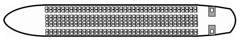 Interior layout plan of Airbus A330, airliners Charter, aménagement de la cabine : avion de ligne, max. of passengers: 361, with crew, available for private business jets charter with a Business Aircraft.