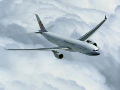 Image a330-flying of Airbus A330 available for rent of flights with a Business Aircraft