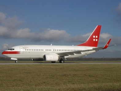 Image b737-vip-take-off of Boeing 737 VIP available for rent of flights with a Private Aircraft