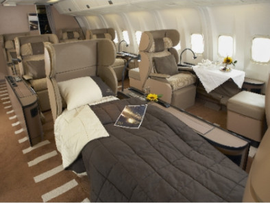 Image b767-bed of Boeing 767 Executive available for rent of flights with a Business Jet