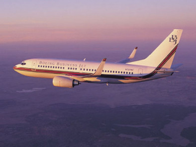 Image bbj-flying of Boeing Business Jet BBJ available for rent of flights with a Private Jet
