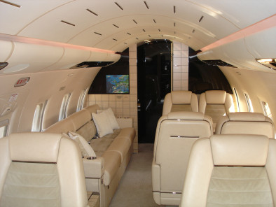 Bombardier Challenger 604, Private Jet, used by Private Jet Charter service from AB Corporate Aviation, showing challenger-604-inside.
