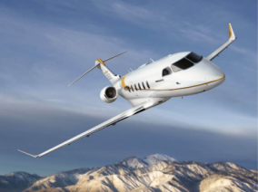 Image bombardier-challenger-350-flying of Bombardier Challenger 350 available for rent of flights with a Private Aircraft