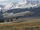 Image dassault-falcon-7x-take-off of Dassault Falcon 7X available for rent of flights with a Business Jet