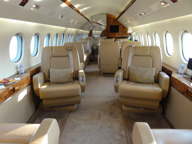 Image falcon-2000-interior of Dassault Falcon 2000 available for rent of flights with a Private Jet