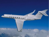 Image gulfstream-v-flying of Gulfstream V available for rent of flights with a Private Jet