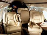 Image gulfstream-v-flying-interior of Gulfstream V available for rent of flights with a Private Jet