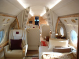 Image gulfstream-v-flying-interior-cabin of Gulfstream V available for rent of flights with a Private Jet