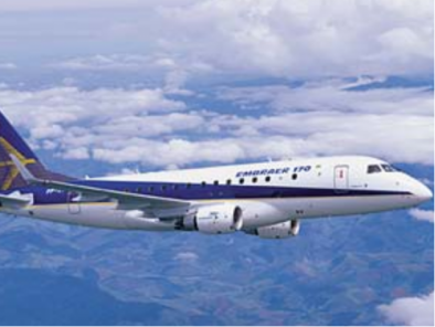 Image embraer-170-flying of Embraer 170 available for rent of flights with a Private Aircraft