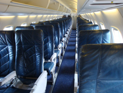 Embraer Erj 135 Jet, Airliner, used by Private Jet Charter service from AB Corporate Aviation, showing erj-135-inside.
