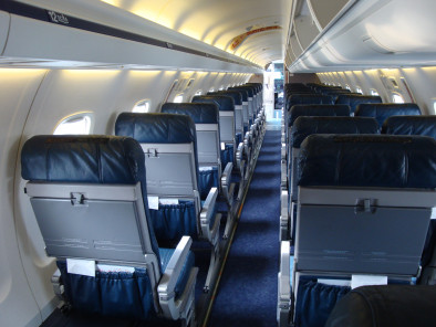 Embraer Erj 135 Jet, Airliner, used by Private Jet Charter service from AB Corporate Aviation, showing erj-135-inside-seats.