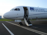 Image fokker-100-welcome-on-board of Fokker 100 available for rent of flights with a Airliner