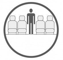 Sketch of the cabin section showing the height available for a passenger of Avro Business Jet BAE 146 VIP, available for private jet charter with a Business Jet