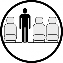 Sketch of the cabin section showing the height available for a passenger of Dornier 328 TP executive, available for private jet charter with a Business Aircraft