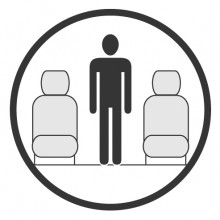 Sketch of the cabin section showing the height available for a passenger of Bombardier Global Express, available for private jet charter with a Private Jet
