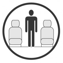 Sketch of the cabin section showing the height available for a passenger of Gulfstream V, available for private jet charter with a Private Jet