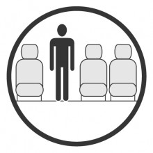 Sketch of the cabin section showing the height available for a passenger of Dornier 328 Jet, available for private jet charter with a Business Aircraft