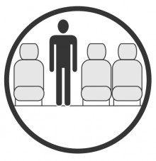 Sketch of the cabin section showing the height available for a passenger of Embraer Erj 135 Jet, available for private jet charter with a Airliner